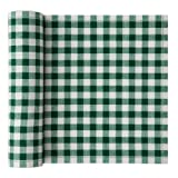 Cotton Printed Luncheon Napkin - 7.9 x 7.9 in - 20 units per roll - Green Vichy