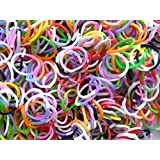 300 2 TONE COLOUR LOOM BANDS LOOM CRAZY WITH S CLIPS AND HOOK