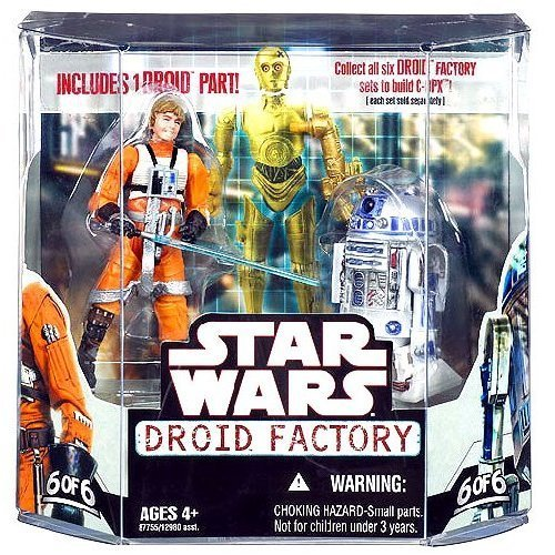 Star Wars Saga 2008 Build-A-Droid Factory Action Figure 2-Pack Luke Skywalker and R2-D2