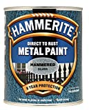 New 2014 Hammerite Hammered Direct To Rust Metal Paint Silver 750Ml