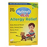 Tabletas para alergia Hyland's Allergy Relief  4Kids 125 unidades.