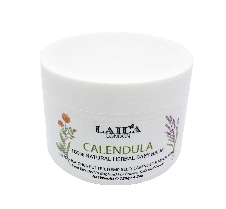 100% Natural Organic Healing Calendula 4.2oz Baby Balm Diaper Rash Cream Treatment for Eczema & Psoriasis
