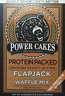 Kodiak Cakes Power Cakes, Crunchy Peanut Butter Flapjack and Waffle Mix from Baker Mills