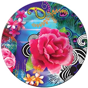 French Bull Collage Plate, Melamine, 8-Inch Diameter