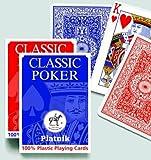 61nb5xTz8PL. SL160  Piatnik 1360   Pokerkarte Vollplastick 4 Eck Faltschachtel
