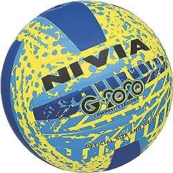 Nivia Volleyball, Size 4 (Yellow/Blue)