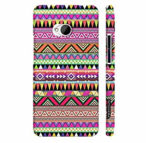 Htc One M7 THREE CORNERED AZTEC designer mobile hard shell case by Enthopia