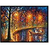 Rrudraksh Beautiful Reprint Painting For Home Décor Of Couple (Unframed Canvas)
