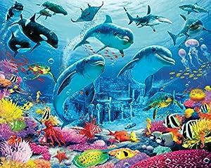 Walltastic sea adventure wallpaper mural 8ft x 10ft for Amazon mural wallpaper