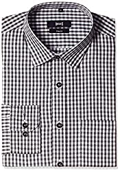 Basics Men's Formal Shirt (8907054539239_14BFS31569_44_Dark Grey)