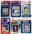 MLB Atlanta Braves 6 Different Licensed Trading Card Team Sets