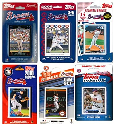 MLB Atlanta Braves 6 Different Licensed Trading Card Team Sets