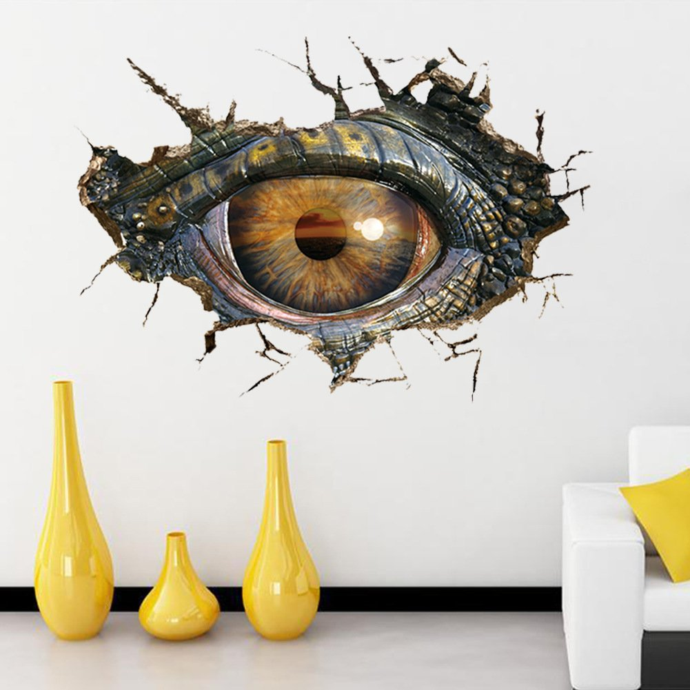 3d high definition dinosaur 39 s eye wall stickers living room bedroom
