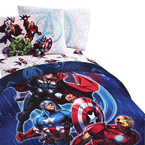 Ideal  Marvel Avengers Full Bedding Set Superheroes Suit Up Comforter and Sheets