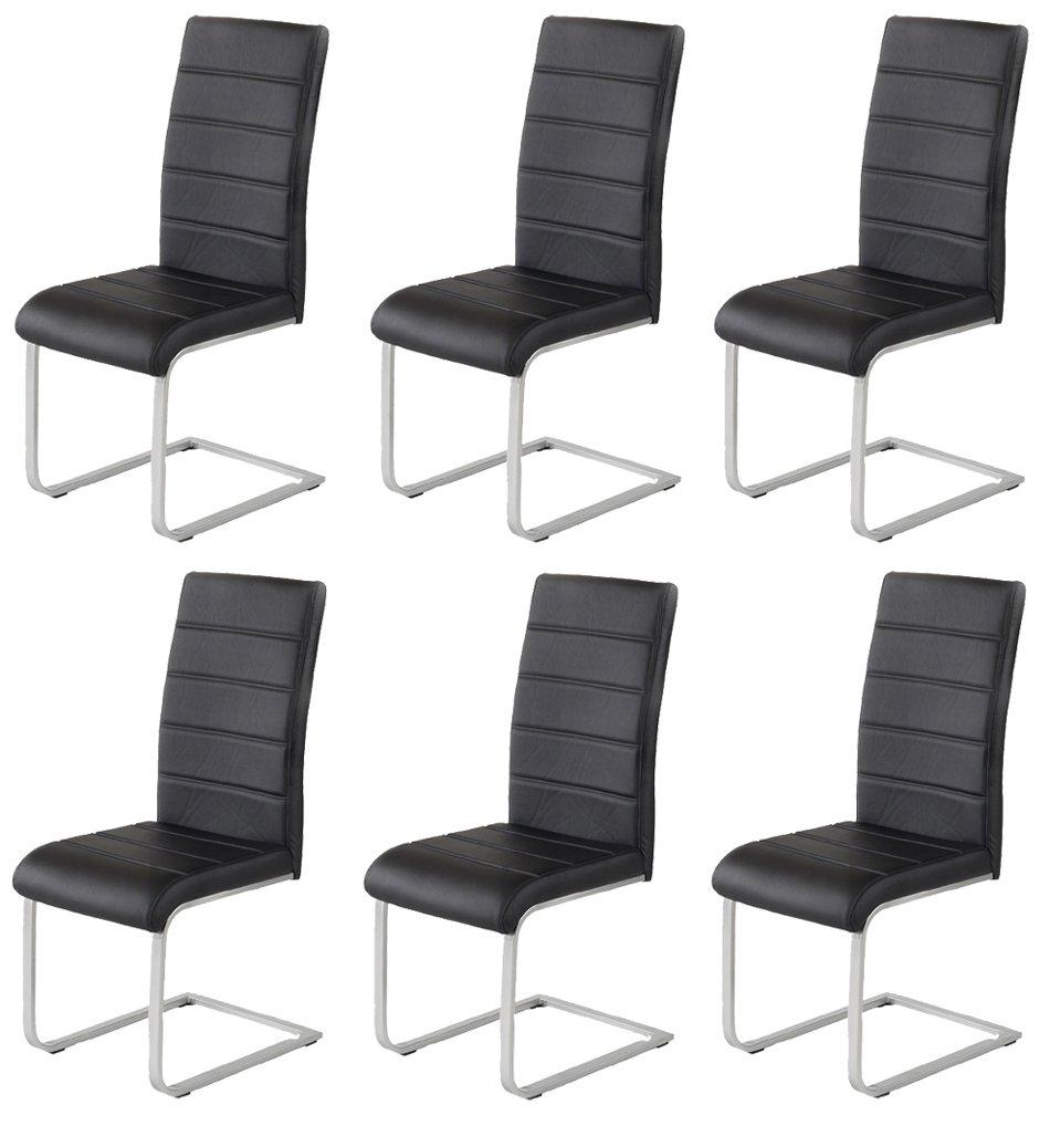 6 x Design Stuhl Freischwinger Piet 30