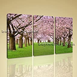 Large Contemporary Landscape HD Picture Print On Canvas Wall Art Autumn Trees 3 Panels Wall Art Inner Framed Ready To Hang by Bo Yi Gallery 44\