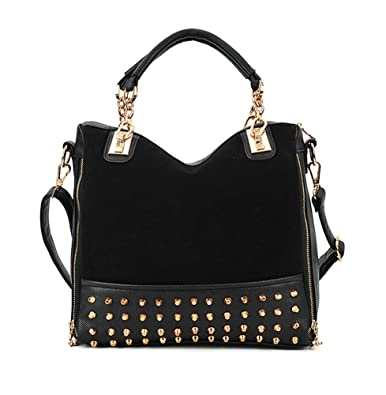 Black Studded Over The Shoulder Bag 70