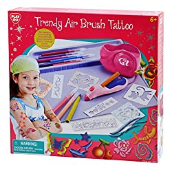 Play Go My Air Brush Tattoo Battery Operated, Multi Color