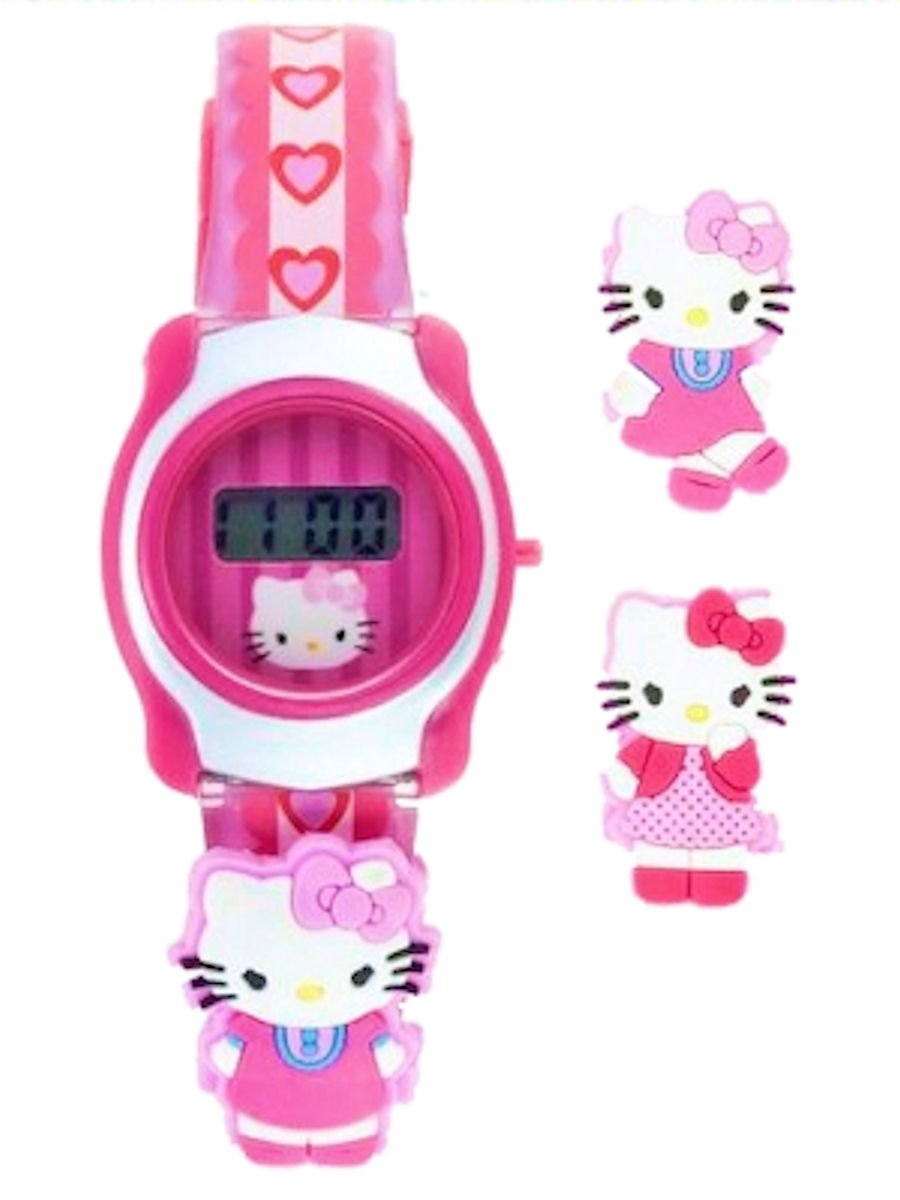 Hellow Kitty LCD Watch with Slide-ON Characters