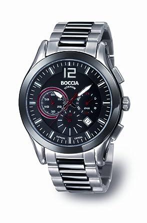 Boccia - B3771-02 - Montre Homme - Quartz - Chronographe - Chronographe -  Bracelet Titane Argent  Guide! 991a2335a4d4
