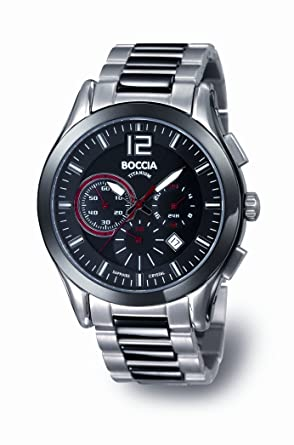 Boccia - B3771-02 - Montre Homme - Quartz - Chronographe - Chronographe -  Bracelet Titane Argent  Guide! fe5e5fc197f4