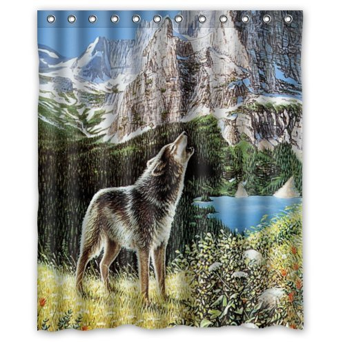 Wolf Shower Curtain Shop Everything Log Homes