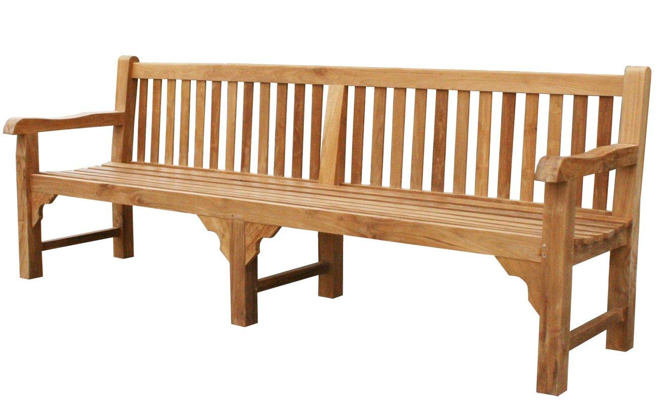 KMH®, Riesige Gartenbank *ROYAL* (240 cm!) – ECHT TEAK! (#102064) kaufen