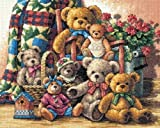 Dimensions Gold Collection Teddy Bear Gathering Cntd X-Stitch Ki