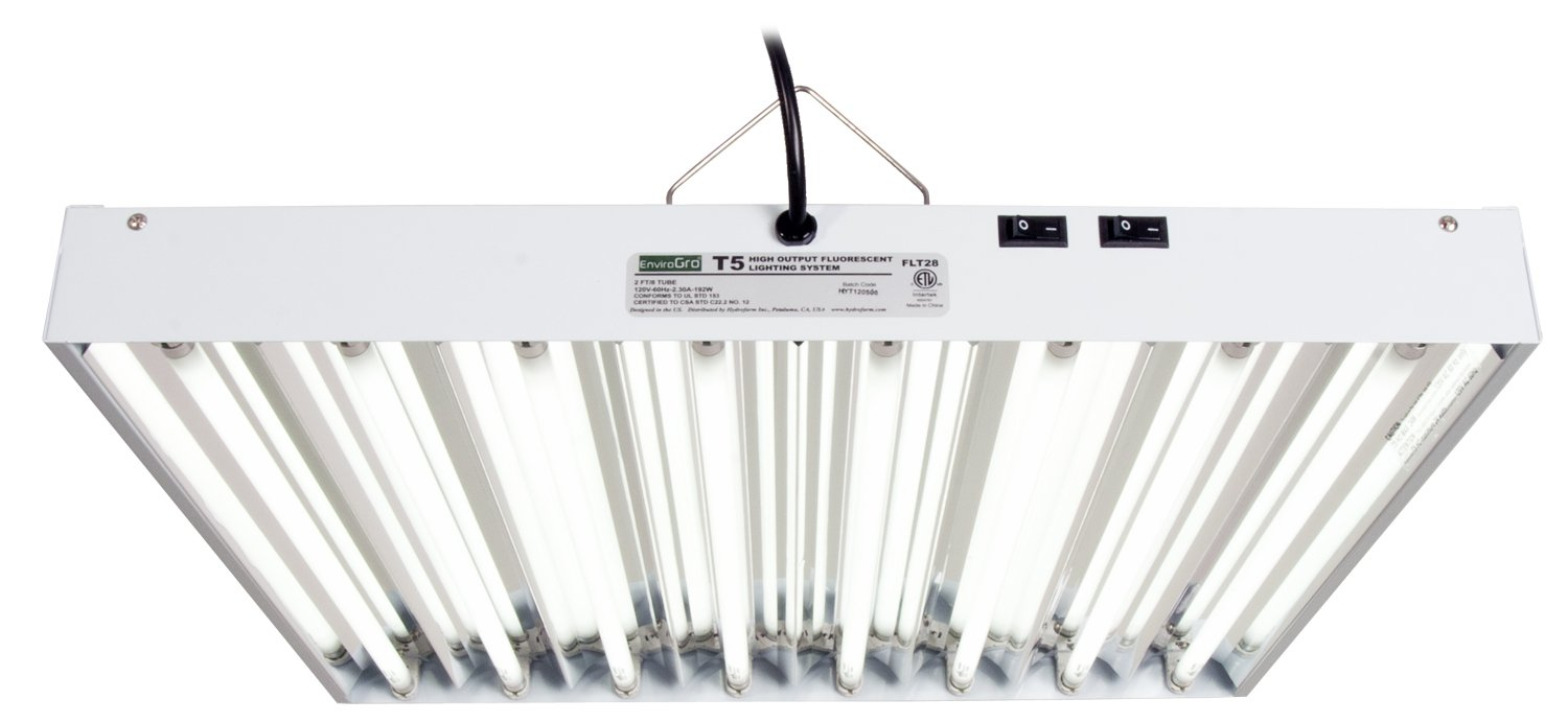 Hydro Crunch T5 2FT 4 Lamp Fluorescent Fixture