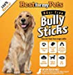 Best Natural Bully Sticks - Odor Free - 6'' Regular Bully Sticks - 8-Ounce Bag - 100% Beef Grain-Free Dog Treats - Low in Fat - High in Protein - Healthy and Delicious All Natural Dog Chews - Your Dog Happy or Your Money Back ***GUARANTEED***
