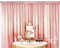 3FTx7FT Rose Gold Sparkly Photo Booth Backdrop Sequin, Choose Your Size Rose Gold Sequin Fabric Photo Booth,Sequin Curtains