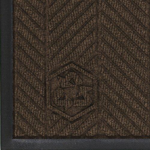 "Andersen 2240 Waterhog Classic Eco Elite Pet Polyester Entrance Indoor Floor Mat, Sbr Rubber Backing, 4' Length X 3' Width, 3/8"" Thick, Chestnut Brown front-613350"