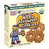 Healthy Times Organic Arrowroot Maple Cookies, 5 oz, (3 Pack)
