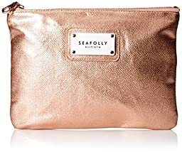 Seafolly Women\'s Carried Away All That Glitters Clutch Bag, Rosegold, One Size