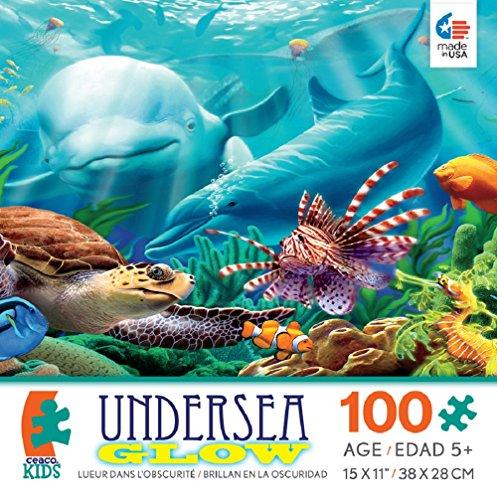 Ceaco Undersea Glow Seavillans 100 piece Puzzle