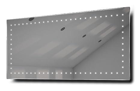 Rio Ultra-Slim LED Bathroom Illuminated Mirror With Demister Pad & Sensor k172