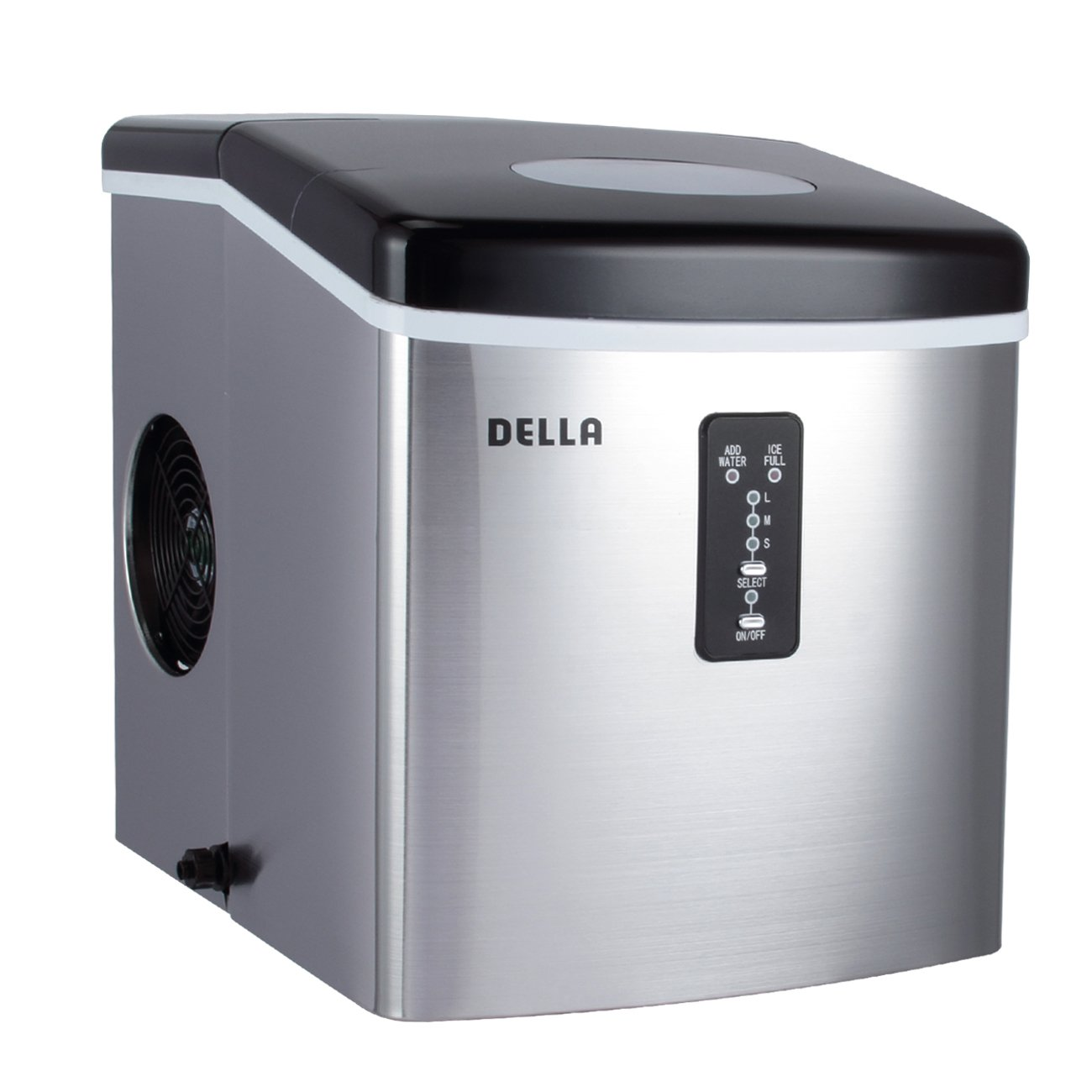 DELLA© Stainless Steel Ice Maker 35lb Per Day Portable Countertop Freestanding Icemaker
