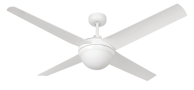 LUCCI AIR Deckenventilator, Altitude Eco, Indoor und Outdoor inklusive Fernbedienung, weiß 210824