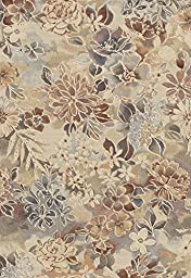 Area Rug, Multi-Colored Floral Stain Resistant Carpet, 7\' 10\