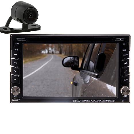 Camera + Autoradio DVD GPS avec Bluetooth Navigation 6,2 pouces Double Din Autoradio vidšŠo stšŠršŠo šŠcran tactile HD Audio Player