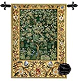 [Free Shipping] Beautiful Tree of Life (G) By William Morris Fine Tapestry Jacquard Woven Wall Hanging Art Decor