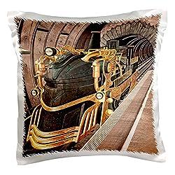 3dRose pc_172052_1 A Steampunk Train Station Pillow Case, 16 x 16