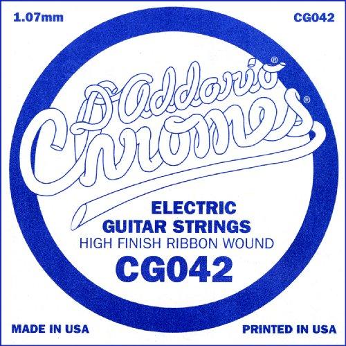 D'Addario Cg042 Flat Wound Electric Guitar Single String, .042