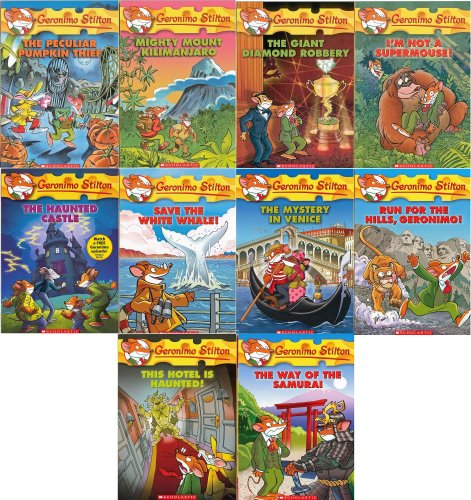 Geronimo Stilton Series Collection Set : Books 41-50 : Mighty Mount Kilimanjaro / This Hotel Is Haunted / The Way of the Samurai / The Mystery in Venice / Run for the Hills Geronimo / The Haunted Castle / Save the White Whale and 3 Additional Titles (Geronimo Stilton Haunted Hotel compare prices)