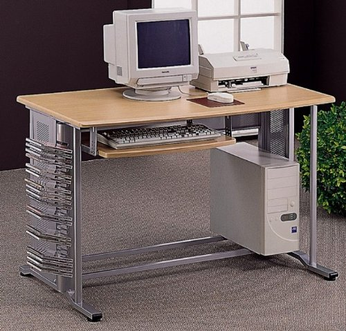 Buy Low Price Comfortable Merino Aluminum Metal/Wood Computer Desk Workstation (B003Y30K9G)