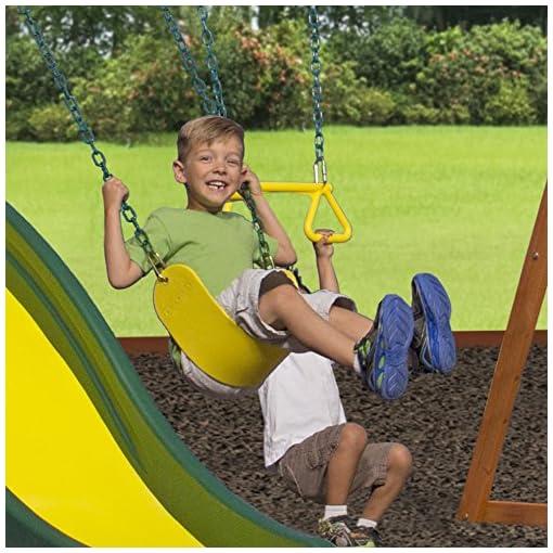 Backyard Discovery Weston All Cedar Wood Playset Swing Set ...