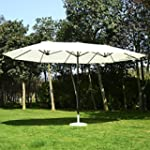 Outsunny 15' Double Sized Patio Umbre...