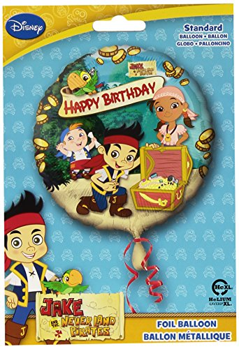 Anagram International HX Jake Neverland Pirates Happy Birthday Party Balloons, Multicolor
