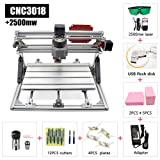 2 in 1 Laser Cutting and Engraving Machine Class 4 Desktop CNC for Wood, Acrylic & PVC. Made for Small Business and Creative Talents (CNC3018+2500mw)