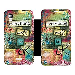 Skintice Premium Flip Cover with a Designer hi-res printed Vinyl Wrap-around forMicromax Canvas Doodle 3 A102 , Design - Everything